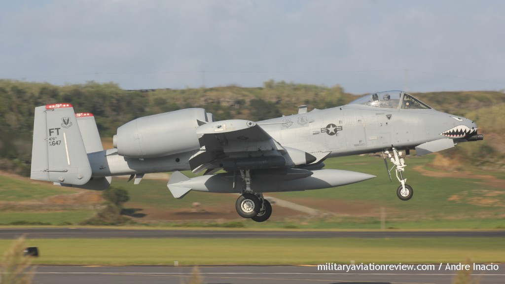 A-10C 78-0647 arriving at Lajes on 20.09. (Andre Inacio)