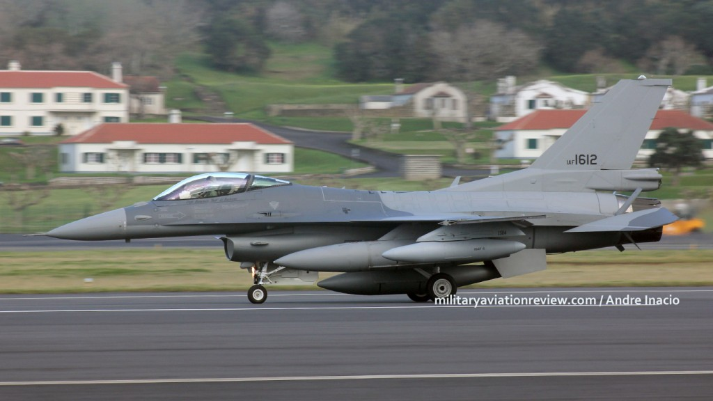 Iraqi Air Force F-16IQ IAF1612 passing through Lajes on delivery to Iraq (28.01.16)
