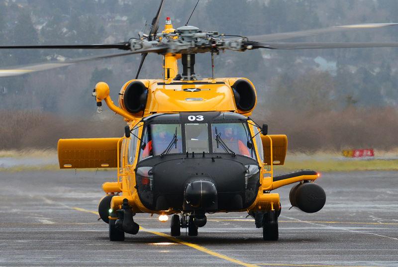 Sikorsky MH-60T Jayhawk 6003 wearing it's new retro markings (Petty Officer 3rd Class Jonathan Klingenberg)