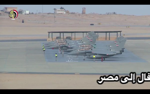Six Egyptian Air Force Dassault Rafales after delivery of a second batch of aircraft.
