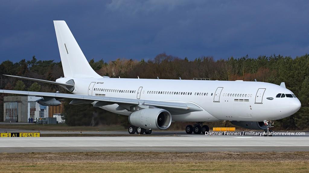 A330MRTT MSN1601 departing Manching on 10.02.16 (Dietmar Fenners)