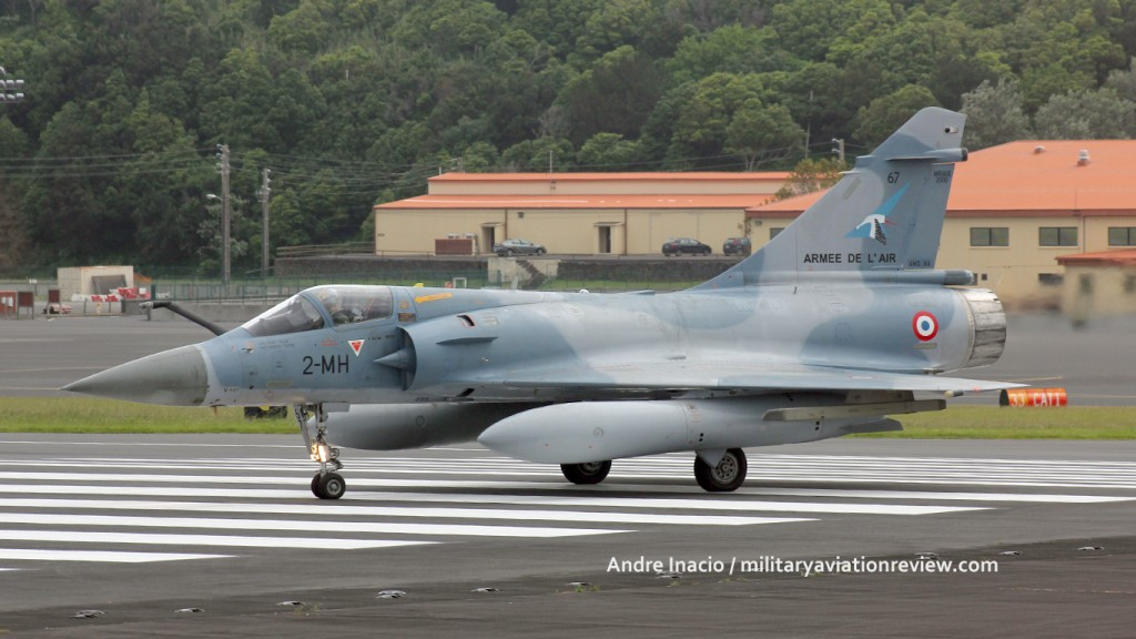 French Air Force Mirage 2000-5 67/2-MH at Lajes on 24.05.16 departing to Bagtoville (Andre Inacio)