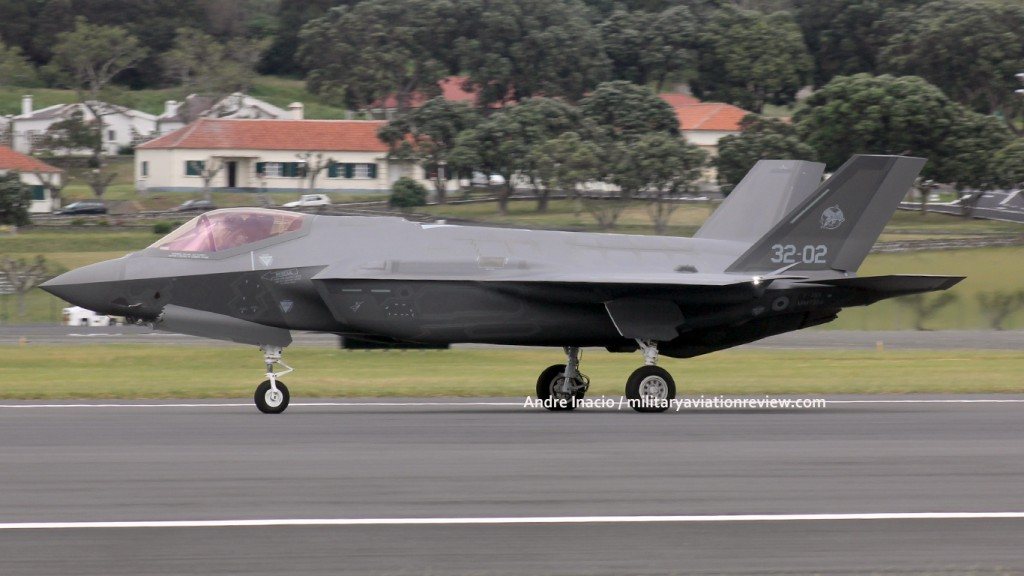 Italian Air Force Lockheed F-35A MM7333 arriving at Lajes on 18.05.16 (Andre Inacio)