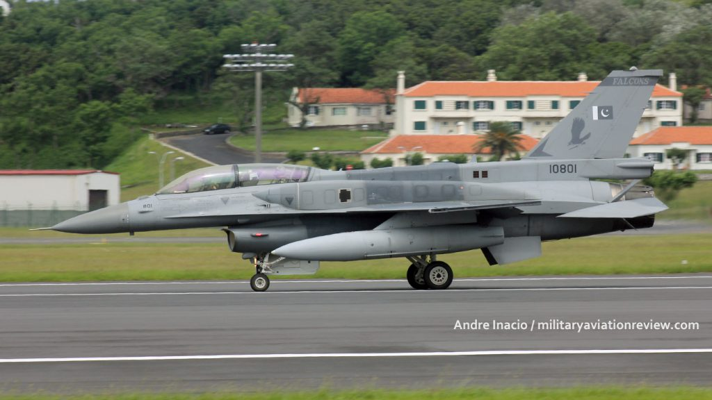 Pakistani Air Force F-16D 10801 arriving at Lajes in the Azores on 20.07.16 (Andre Inacio)