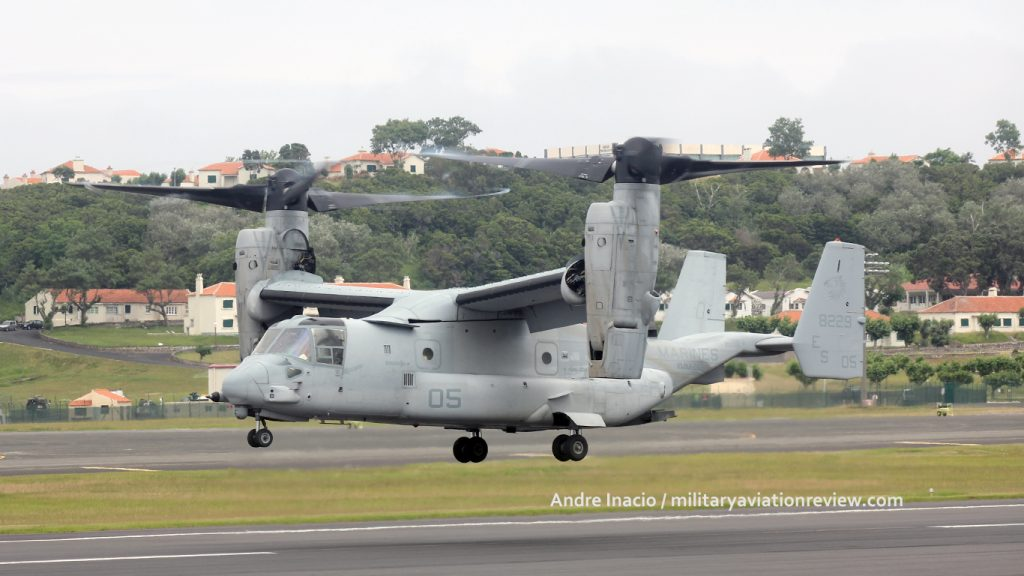 VMM-266 MV-22B Osprey 168229 arriving at Lajes on 21.07.16 (Andre Inacio)