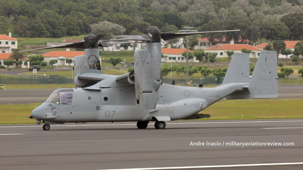 VMM-266 MV-22B Osprey 168626 arriving at Lajes on 21.07.16 (Andre Inacio)