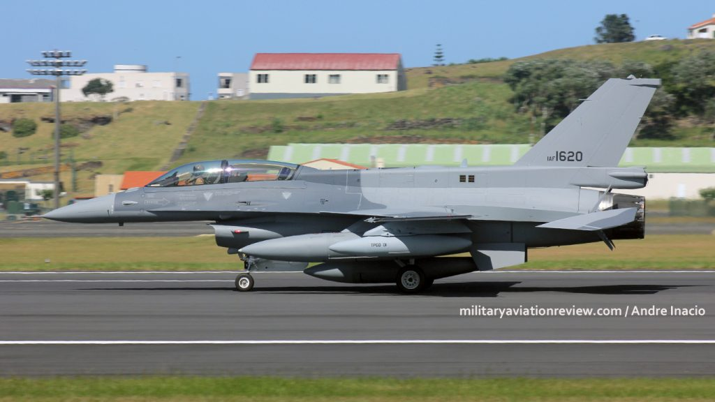 Iraqi Air Force F-16IQ 1620 arriving at Lajes on 03.08.16 (Andre Inacio)
