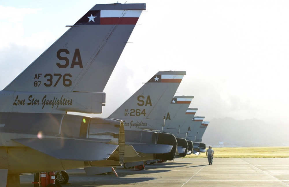The 149th Maintenance Squadron, 149th Fighter Wing, Texas Air National Guard, headquartered at Joint Base San Antonio-Lackland, Texas, complete launch preparation at Joint Base Pearl Harbor-Hickam, Hawaii, Aug. 18, 2016. The 149th FW participated in Sentry Aloha 2016, a large-scale fighter exercise hosted by the Hawaii Air National Guard. (U.S. Air National Guard photo by Tech. Sgt. Rebekkah Jandron)