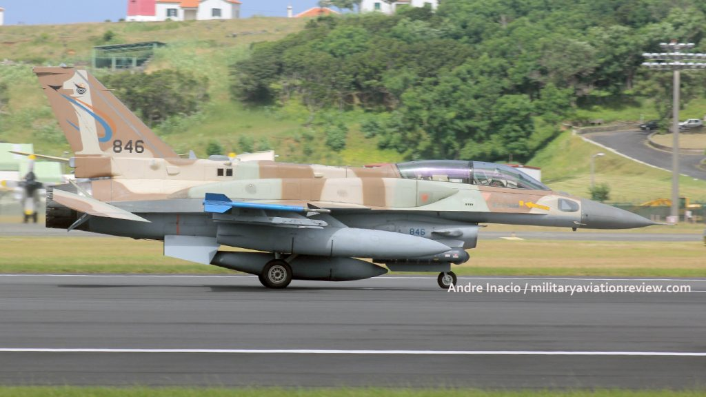 Israeli Air Force 201 Squadron F-16I 846 at Lajes on 07.08.16 (Andre Inacio)
