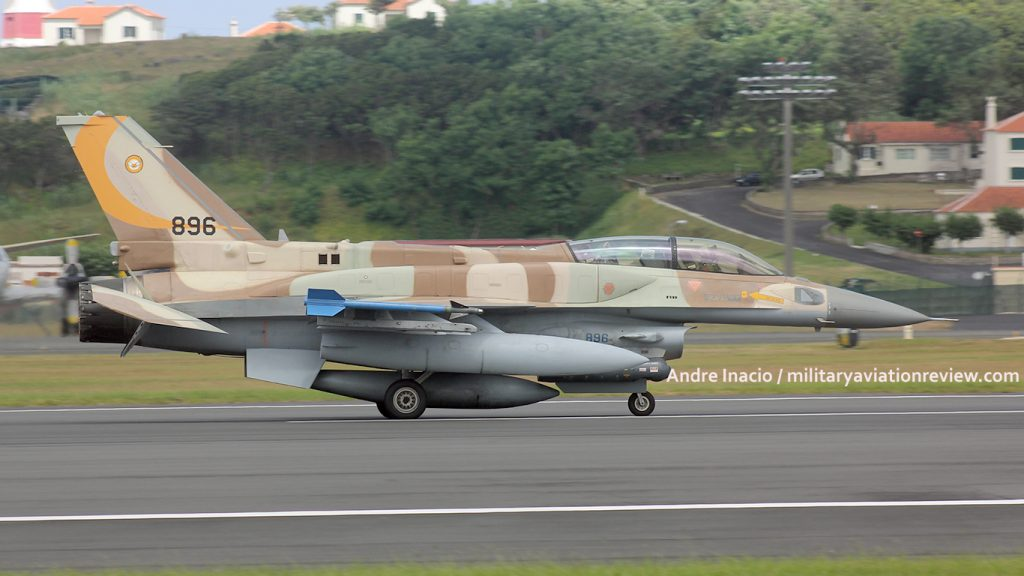 Israeli Air Force 107 Squadron F-16I 896 at Lajes on 07.08.16 (Andre Inacio)