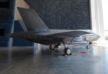 Japanese Air Force Lockheed F-35A 69-8701 at the Lockheed Martin factory in Fort Worth (Japan Air Self Defense Force)