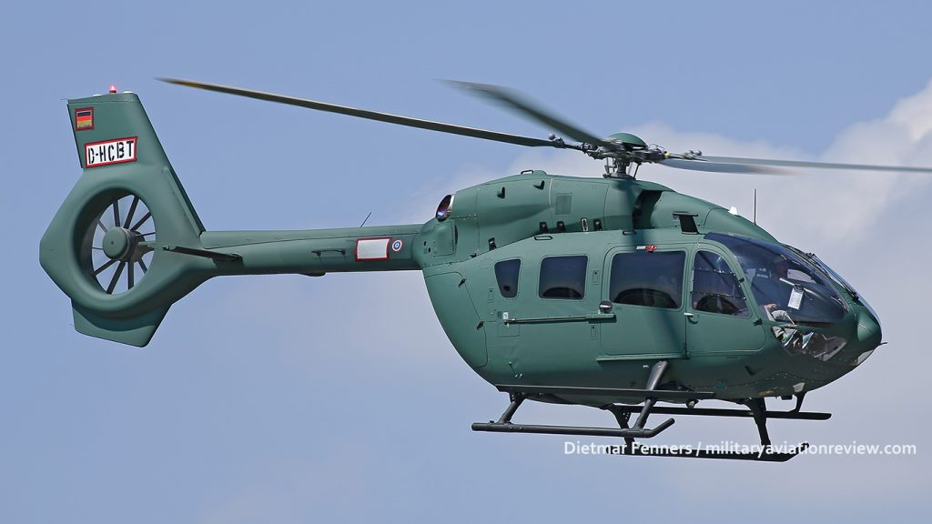 Royal Thai Army Airbus Helicopters H-145T2 20080 test flying at Manching on 16.08.16 (Dietmar Fenners)
