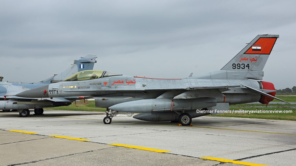Egyptian Air Force F-16C 9934 at Andravida Air Base in Greece (Dietmar Fenners)