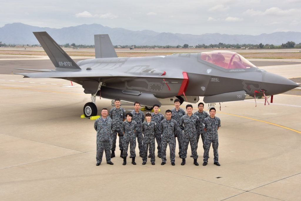 JASDF F-35A 69-7801 on delivery to Luke AFB in Arizona on 28.11.16 (JASDF)