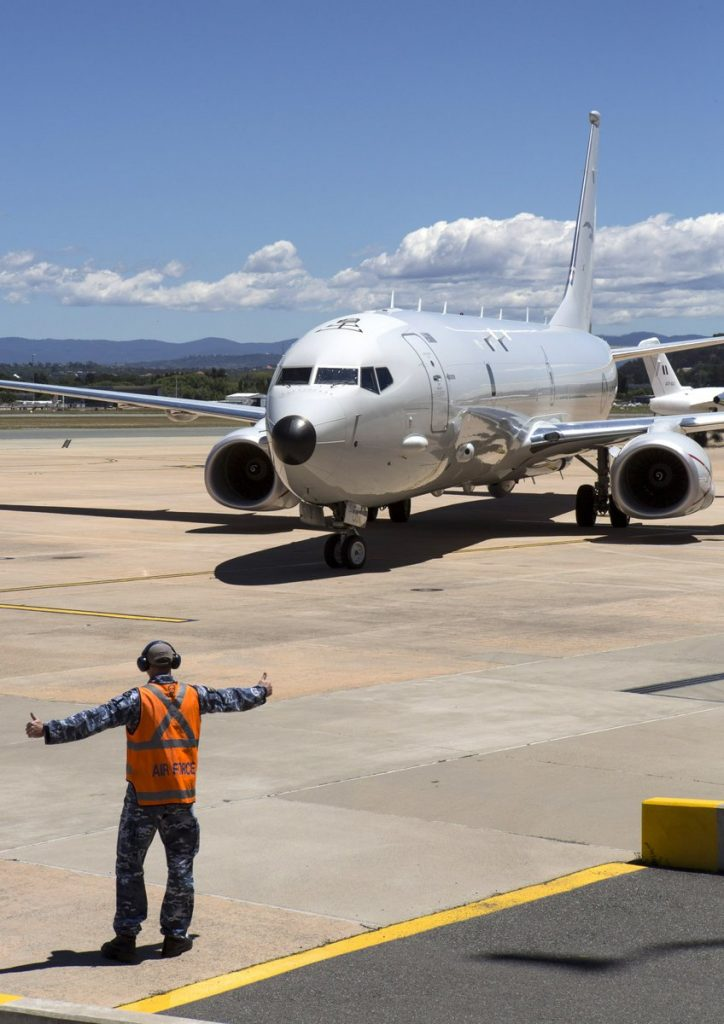 Boeing P-8A A47-001 during a delivery ceremony in Canberra (Royal Australian Air Force)