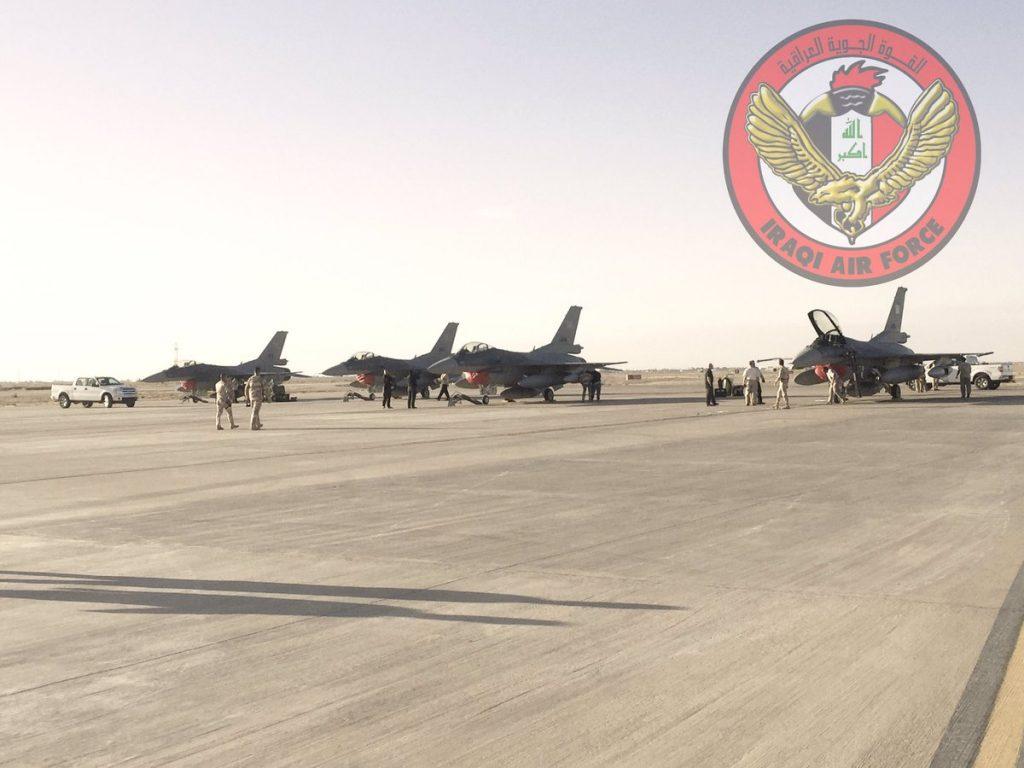 Lockheed F-16IQ arriving at Balad Airbase in November 2016 (Iraqi Air Force)