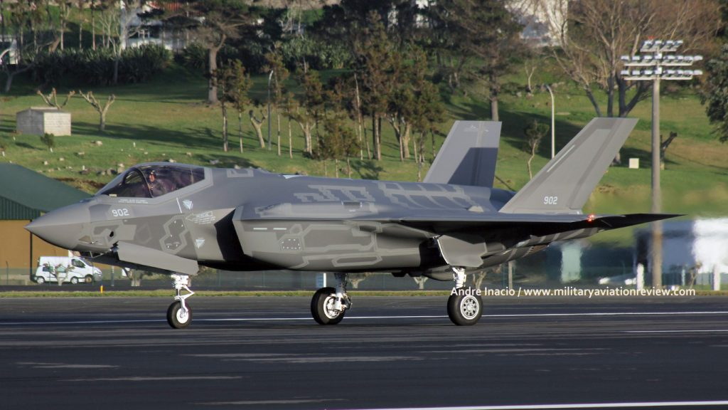 Israeli Air Force Lockheed F-35I 902 arriving at Lajes on 06.12.16 (Andre Inacio)